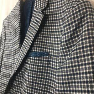 Original Penguin Checkered Sport Jacket Wool Blend
